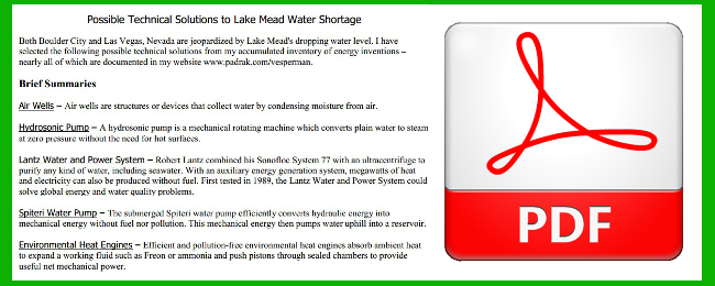 Technical Solutions For Lake Mead Water Shortage with PDF Logo